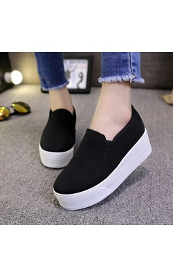 12 Style Women Casual Shoes Flat on platforms Spring Autumn Slip on Canvas Shoes Solid Star Lace Style Shoes ladies Loafers