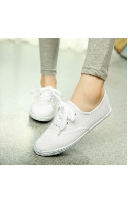 18 Color Plus Size Womens lace canvas espadrilles Shoes Casual shoes Woman low top For ladies White sport sneakers zapatos mujer