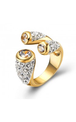 18K Gold Plated Cocktail Rings Fashion Jewelry Gift Open Ring HOT SALE Women Girl Jewelry R271