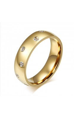 18K Gold Plated Women Wedding Rings Wholesale 6mm Wide Stainless Steel Rings For Women And Men Jewery