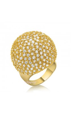 18k Gold Plated Deluxe Crystal Rings Fashion Jewelry Hemisphere Ring Girl Women Gift R1048 R1049