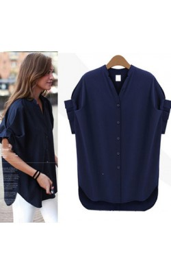 2014 New fashion women blouse blusas femininas plus size casual chiffon shirt  women clothes tops 5xl 4xl xxxl xxl xl 605