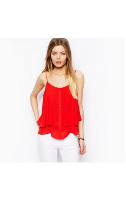 2014 new Fashion vest chiffon shirt 954