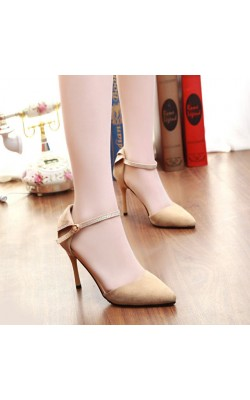 2015 autumn thin heels high-heeled shoes rhinestone hasp sexy cutout women's shoes pointed toe single shoes female sandals