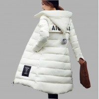 Women Hooded Thicken Coat Female fashion Warm Outwear Cotton-Padded Long Wadded Jacket Down Coat Parka