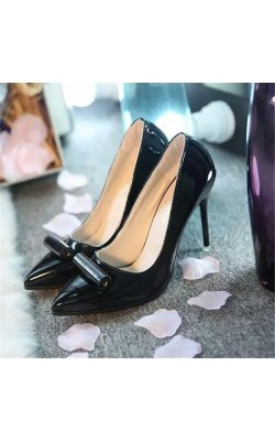 2016 Women's shoes Autumn women's shoes, pointed high-heeled shoes with shallow temperament career with a single shoes