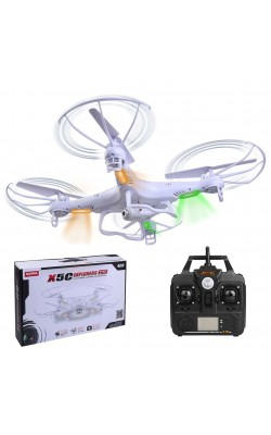 2G X5C-1 2.4Ghz 4CH 6-Axis Gyro RC Quadcopter Drone Helicopters UAV HD 0.3MP Camera RTF 8 Minutes