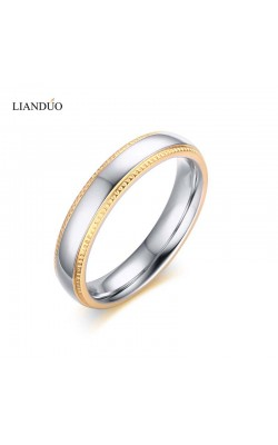 4mm Personality Simple Style Bijoux Rings for Women18K Gold Plated Classic Wedding Ring Jewellery Anillos
