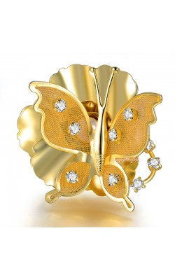 Adjustable size 7 8 9 Butterfly Flowers Ring 18k Gold Plated Fashion Jewelry Rings Women Girl Gift R1084