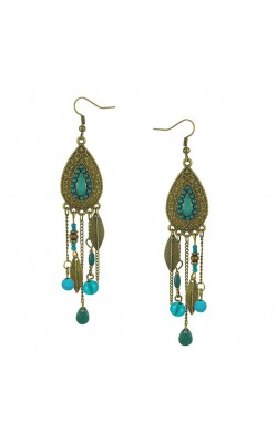 Best seller Diomedes Factory Price Diomedes Female Bohemian Style Water Drop Earrings Inlaid Beads Fringed Leaf Earrings Aug11
