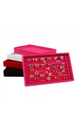 Best seller Diomedes Factory Price Full Velvet Ring or Jewelry Box or Earrings Ring Box or Tray Box Apr7