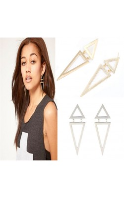 Best seller Diomedes   Fashion Vintage Design Geometric Big Triangle New wedding Earrings for women Girl jewelry ww