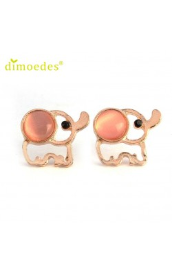 Best seller Diomedes   New Fashion Women Girls Lady Elephant Rhinestone Ear wedding Earrings for women Girl