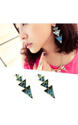 Best seller Diomedes  fashion layer triangle  earring for women vintage earrings curren wedding earrings for women Girl