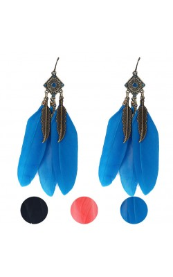 Best seller  Women Fashion Vintage Leaf Earrings Feather Drop Earring wedding Earrings for women Girl jewelry ww