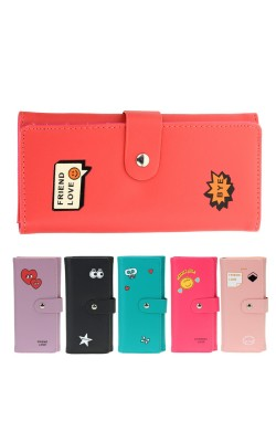 Candy Color Women Leather Wallets Portefeuille Femme Coin Purses Brand Long Purse Clutch Wallets Card Holder Carteira Feminina
