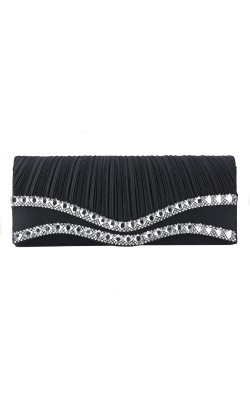 Classic Women Satin Wedding Handbag Clutch Party Prom Bag Evening Bag Purse With Chain  Wallet Elegant Purse Clutch Card holder