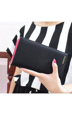 Fashion Women Envelope Wallet 4 Colors PU Leather Wallet Long Ladies Clutch Coin Purses Long Wallets New Women Handbags Bolsos