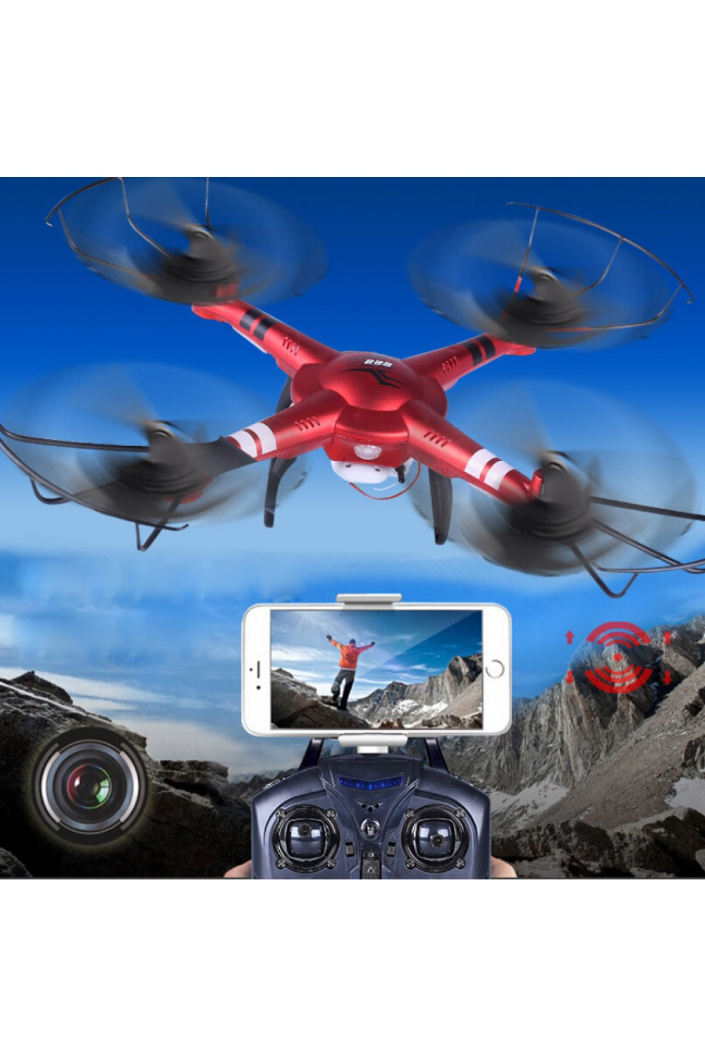 WLtoys Q222K Q222-K WiFi FPV 720P RC Quadcopter RTF 2.4GHz drone  with HD Camera High Hold Mode One Key Return VS X5SW X5HW