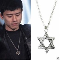 X 141 Hexagram pendant necklace women - men punk jewelry pendant necklace fine jewelry chain factory direct statement